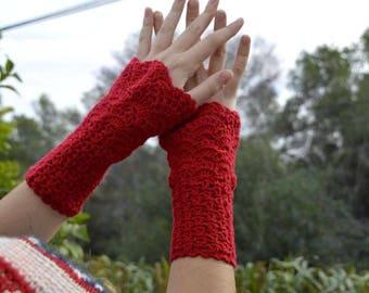 Crochet fingerless gloves. Handmade gloves. Winter Accessories