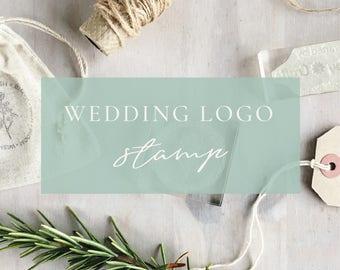 Wedding Logo Stamp | - Custom Wedding Stamp - Wedding Monogram - Wedding Stationery