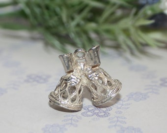 Gorgeous Sterling Silver Wedding Bells Charm/Cake Topper