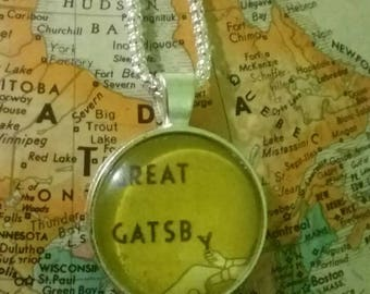The Great Gatsby Necklace /  Handmade Literary Necklace