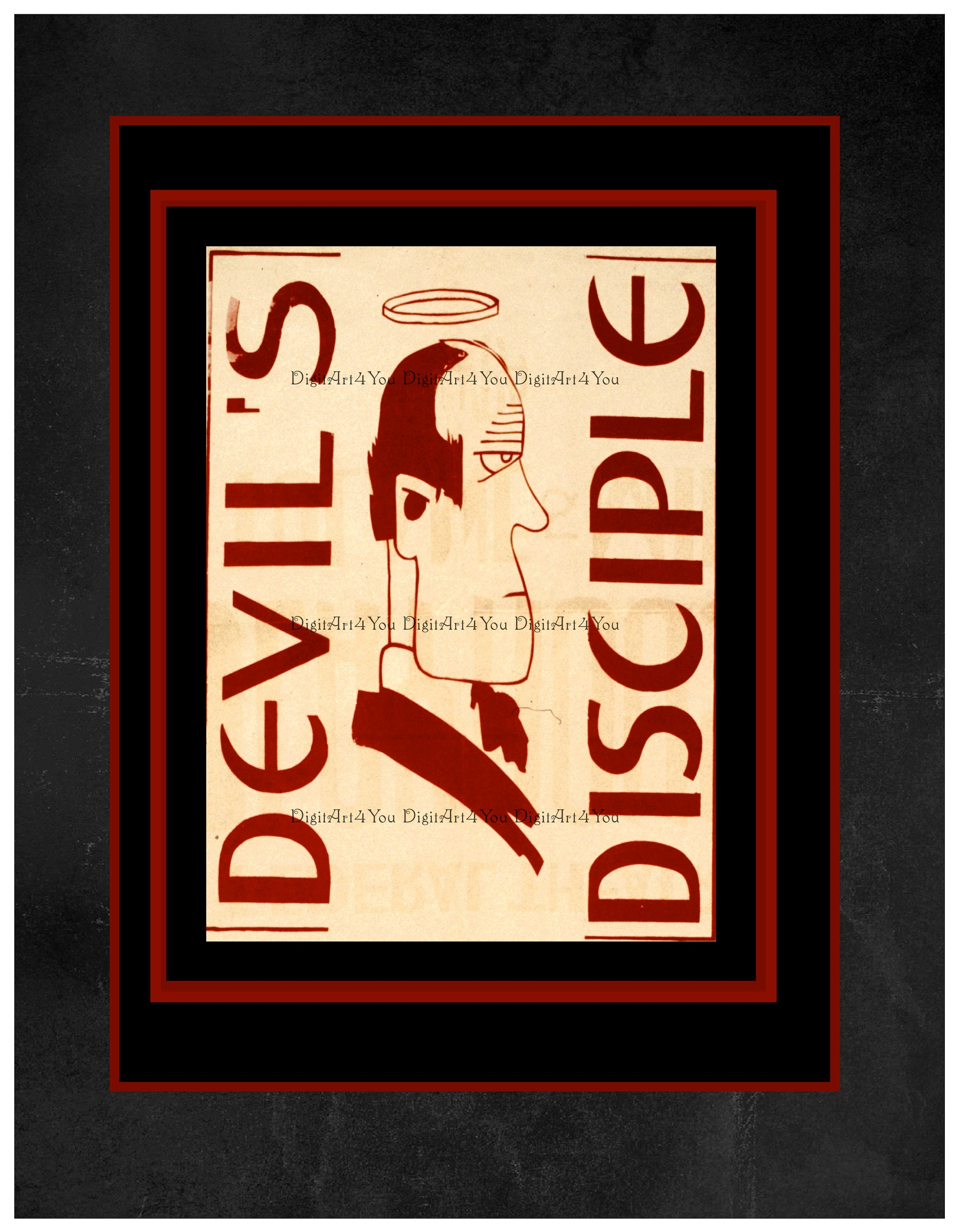 High Resolution Digital Poster from a Vintage Theatre Devil\'s ...