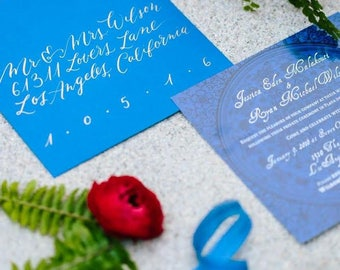 Calligraphy Addressed Envelopes | Invitation | Wedding | Modern Calligraphy