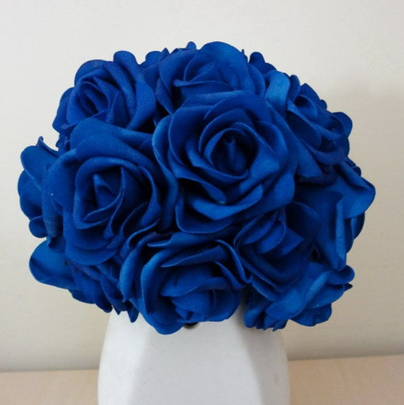 Vanrina royal blue flowers artificial wedding flowers vanrina royal blue flowers artificial wedding flowers wholesale 200 headsstems for wedding bridal bouquets wedding decoration centerpieces mightylinksfo Choice Image