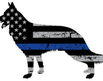 Police K-9 TBL Sticker Decal (German Shepherd)