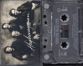 Highwayman 2 - Willie Nelson - Johnny Cash - Waylon Jennings - Kris Kristofferson - 1990 - VG+ Play Tested Cassette Album.