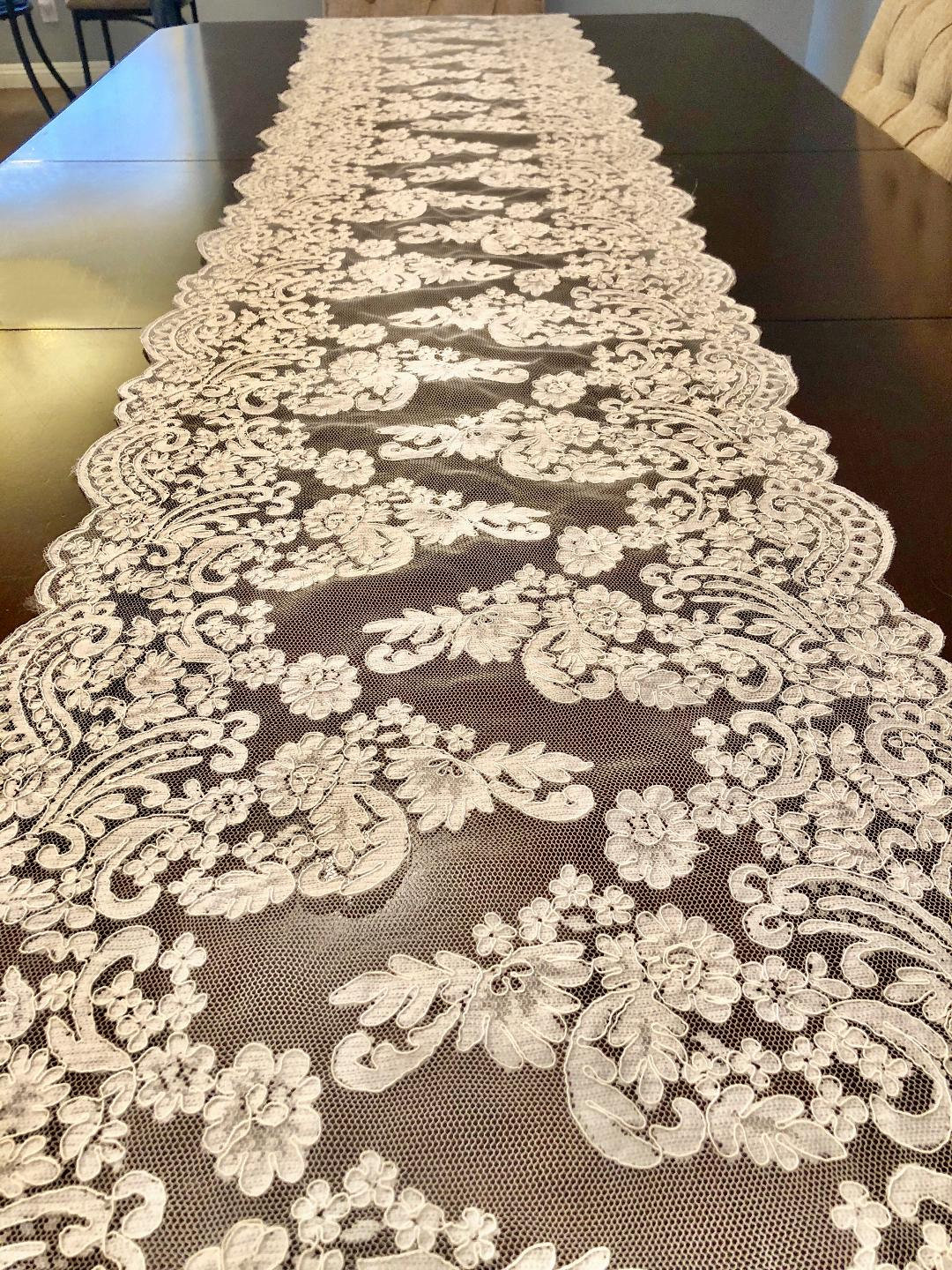 Table Runner Lace Table Runner Lace Ivory Table Runner Wedding