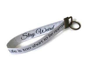 Long keychain with your fabrics selection, custom key ring, fabric key fob, key ring