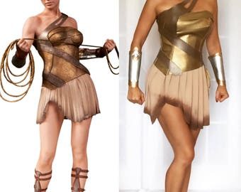 Warrior Wonder Woman Costume. Custom Made Sizes XS-L