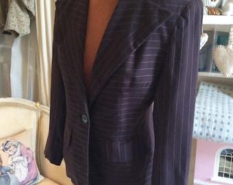 1940s brown pinstripe wool jacket