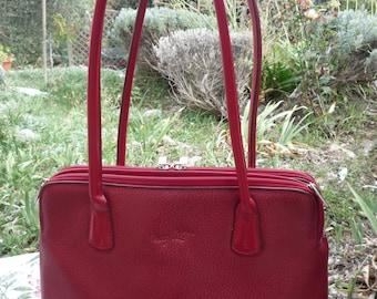 Red city vintage bag
