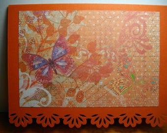 Elegant Expressions (Orange) • Box of 8 Handmade Cards
