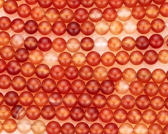 15 1/2 IN Strand 4 mm Natural Carnelian Round Gemstone Beads (CANRND0004)