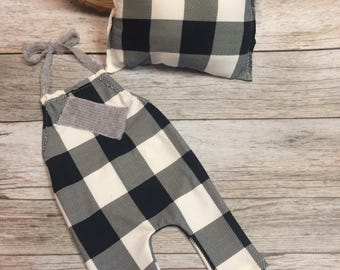 Buffalo plaid baby, Newborn boy photo prop, newborn photo prop, photography prop, newborn boy, newborn boy prop set, newborn photo prop,