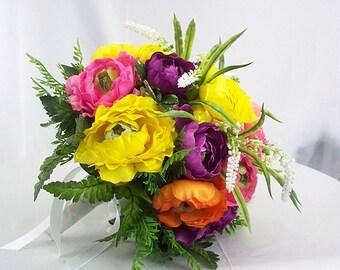 Tropical bridal bouquet,  Tropical wedding flowers,  Tropical bridal bouquets,  Wedding tropical flower bouquet purple yellow colorful