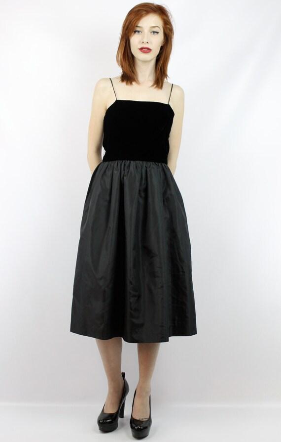 Schwarze Prom Kleid schwarzes Kleid Schwarz Samt Kleid