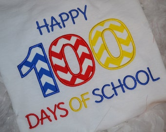 Happy 100 days of school t-shirt