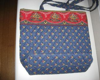 Vintage Vera Bradley Tote Bag//Made in USA//Retired Print//Vintage Designer Collectible Purse/Bag//Vintage Fabric Design