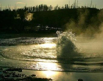 Bubbling hot spring, Yellowstone National Park