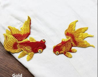 Sew on Embroidered Patch Koi Patch Large Back Patch Koi Embroidered Patch Japanese Patch Black Koi Fish Patch Aesthetic Patch Japan Patch