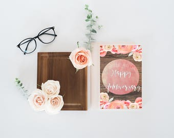 Anniversary Card, Anniversary Card for her, floral anniversary card, downloadable anniversary card, cute anniversary card, card, cute card