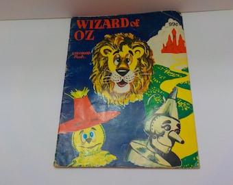 Vintage 1990 Wizard Of Oz Coloring Book (26) Landoll, Inc.