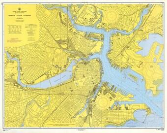 0387-Boston Inner Harbor 1959 - Nautical Chart
