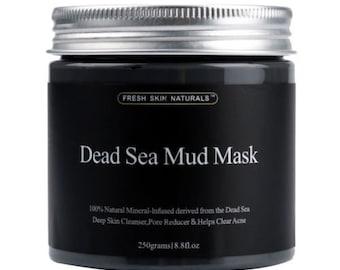 Fresh Skin Naturals Dead Sea Mud Mask Facial Cleanser, Anti-Aging, Tone, 8.8oz