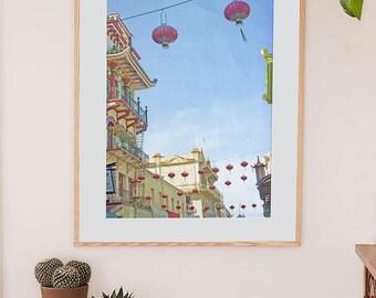 San Francico Chinatown Lanterns Fine Art Print // Urban Photography // Chinatown Lanterns // Archival Original Fine Art Print