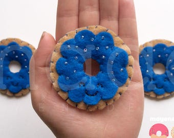 beignet framboise bleu broche feutre alimentaire