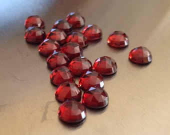 6mm Rose Cut Mozambique Garnet - 1 Cab