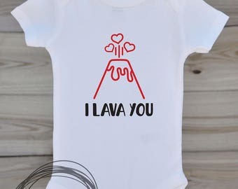 I Lava You // Baby Apparel, Toddler Shirts, Trendy Baby Clothes, Cute Baby Clothes, Baby and Toddler Clothes
