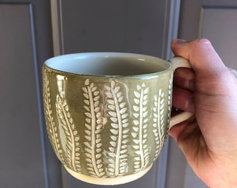 MADE TO ORDER  Branch Out Mug, Handmade Ceramics and Pottery, Wheel Thrown Pottery