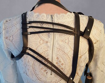 Faux Leather Harness Purse