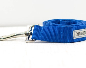 "4FT. Blue Nylon Dog Leash, Blue Dog Leash, 4FT. Dog Leash, Dog Leash On Sale, Boy Leash, Dog Accessories, 1"" Wide"