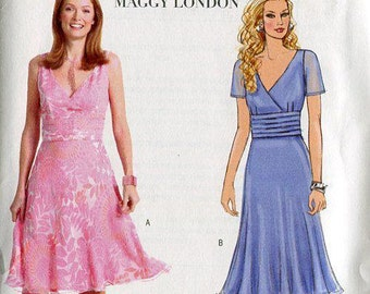 FREE US SHIP Butterick 4510 Maggy London Empire Top Skirt 2005 Out of Print Sewing Pattern Size 6 8 10 12  Bust 30 31 32 34