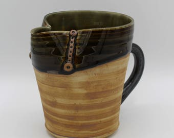 Ceramic Pitcher, Stoneware, Hand Made Pottery, Unique Gift 3