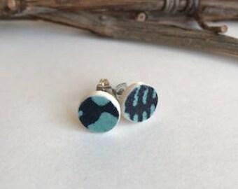 Stud Earrings//Paperclay//earrings//stainless steel//handmade