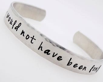 Memorial jewelry, Forever Would not have been long enough, handstamped adjustable  bracelet, grief loss grieving lost loved one death
