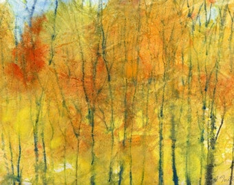 Batik Style/New England Fall-Scape No.15, limited edition of 50 fine art giclee prints