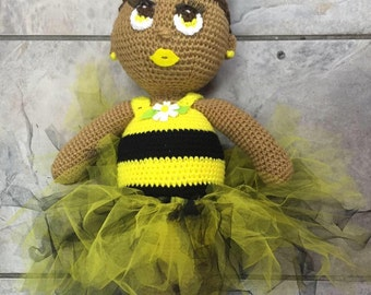 Tutu wearing Crochet Cuddler