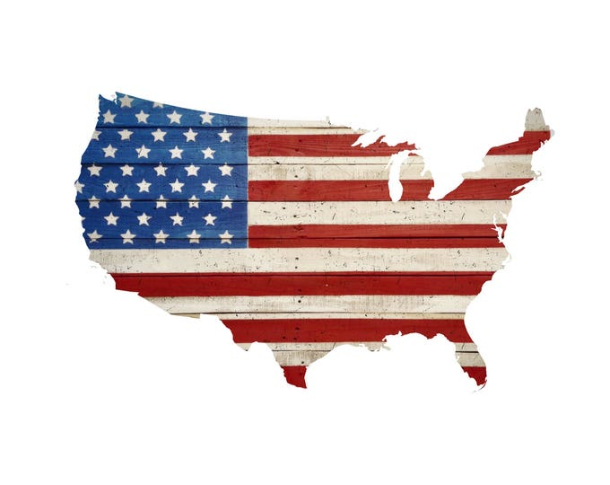 Wooden USA American Flag, Reclaimed Wood, Handmade, Rustic Wooden American Flag, Rustic Wood USA