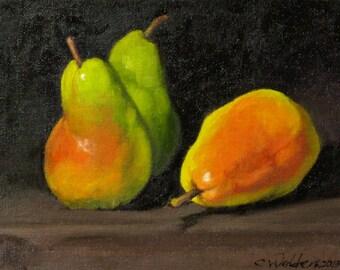 Three Pears Still Life