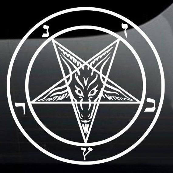 Baphomet Pentagram Sigil Vinyl Decal Bumper Sticker Die