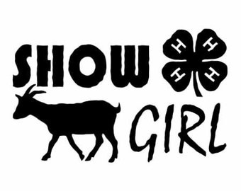 Farm Show Girl Goat Decal | Goat 4H Farm Vinyl Decal  | Farm Goat Wall Vinyl Decal | Farm Goat Sticker | Farm Decals | Goat Decal