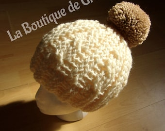 Mother and daughter hats / / Mommy and me / / beige / / twists / / tassels