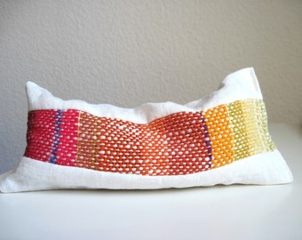 Lavender Eye Pillow with Handwoven Ornamentation