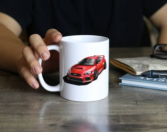 2018 Subaru WRX STI Drinking Mug without Background, Covers all Subaru WRX colors, best gift for car enthusiast