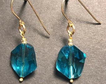 Swarovski Sky Blue Crystal Earrings