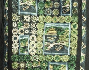 Golden Pavilion Kaleidoscope Quilt