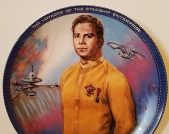 Captain Kirk collectable plate